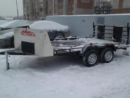 Прокат прицепа Аляска для двух квадроциклов или трёх снегоходов