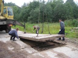 Монтаж дорожных плит