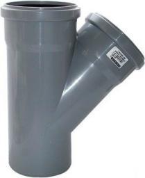 Тройник 45° 110*110*45 (Фитинги ПВХ для канализационных труб)