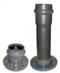 Патрубок раструбный с мет. фланцем 90/80 (Фитинги ПВХ напорные)