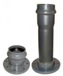 Патрубок раструбный с мет. фланцем AVK400 (Фитинги ПВХ напорные)