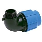 Отвод c наружной трубной резьбой компрессионный ПП Д 25ммХ3/4