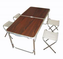 Туристический складной стол для пикника со стульями 4шт (120х60х70см) (столик для пикника + 4 стула)