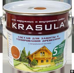 Состав для защиты и тонирования древесины KRASULA