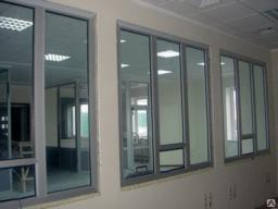 Окна алюминиевые из холодного профиля