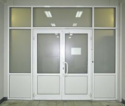 Дверь противопожарная алюминиевая EIW-30 мин
