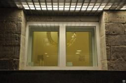 Алюминиевое противопожарное окно из холодного профиля  ОП 1 (E 60)