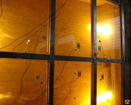 Алюминиевое противопожарное окно из теплого профиля ОП 2(E 30)