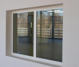 Алюминиевое противопожарное окно из теплого профиля ОП 1 (E 60)