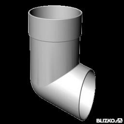 Отвод сливной белый пластик (Водостоки пластиковые