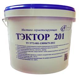 Мастика полиуретановая двухкомпонентная для швов Тэктор 201 (белый, 12,5 кг)