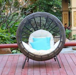 Натуральный мед,Наружный плетеный стул / садовое гнездо / надворный диван 5029, 2920202
