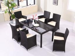 Комплект для отдыха,Набор садовых и надворных стола и стульев (7 предметов) / наружная мебель 6001, 2920208