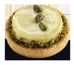Тарт клубнично-фисташковый