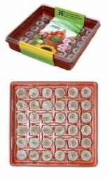 Минипарник с торфяными таблетками 41 мм,28 ячеек,30 шт/кор