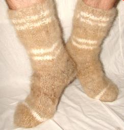Носки «Заполярье» из собачьей шерсти .Больные ноги лечение.
