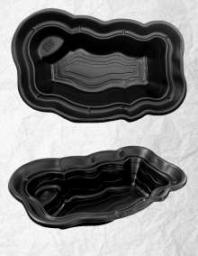 Декоративный садовый пруд 1500 черный