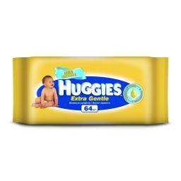 Салфетки влажные Huggies Extra Gentle с витамином E 64 шт Huggies