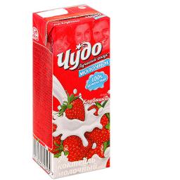 Коктейль молочный Чудо 200 гр. Клубника Чудо