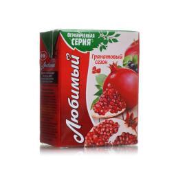 Нектар Любимый 0,2 л Гранат-яблоко-черноплодная рябина Любимый