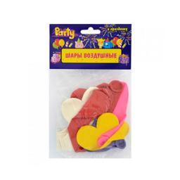 Воздушные шары ACTION! Сердечки Разноцветные 10 шт. ACTION!