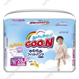 Трусики Goon для девочек 13-25 кг (28 шт) Размер SPB GooN