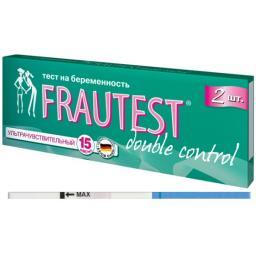 Тест FRAUTEST на определение беременности Double сontrol (тест-полоски) 2 шт. FRAUTEST