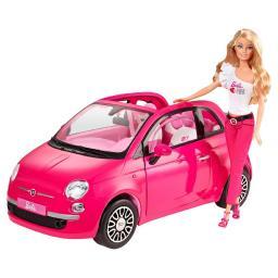 Игровой набор Barbie Розовый Фиат + кукла Barbie
