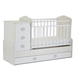 Кроватка-трансформер СКВ-компани - Птички, 94103 белый СКВ-Компани