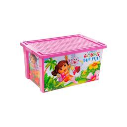 """Ящик для игрушек Little Angel """"Даша Путешественница"""" (на колесах) 57 л. Little Angel"""