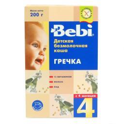 Каша Bebi безмолочная 200 гр Гречневая (с 4 мес) Bebi