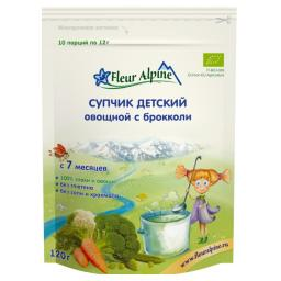 Супчик Fleur Alpine 120 гр Брокколи (с 7 мес) Fleur Alpine