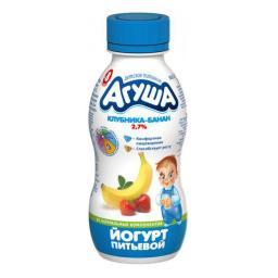 Йогурт Агуша 200 мл Клубника банан (с 8 мес) Агуша