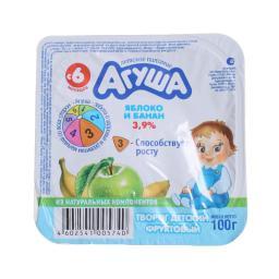 Творог Агуша 100 гр Яблоко банан 3,9% (с 6 мес) Агуша