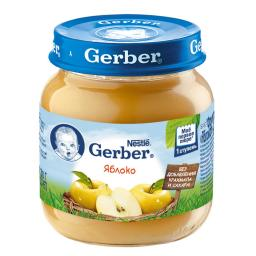 Пюре Gerber Гербер фруктовое 130 гр. Яблоко (с 4 мес) Gerber