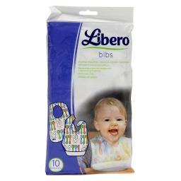 Слюнявчик Libero Либеро 10 шт. Одноразовый (с 6 мес.) Libero