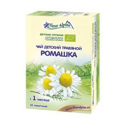 Чай детский Fleur Alpine Organic 20 гр (20 пакетиков) Ромашка (с 1 мес) Fleur Alpine
