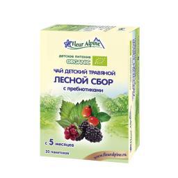 Чай детский Fleur Alpine Organic 30 гр (20 пакетиков) Лесной сбор с пребиотиками (с 5 мес) Fleur Alpine