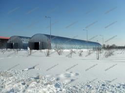 Ангар (овощехранилище) быстровозводимый бескаркасный разборный со склада