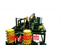 станок брусующий с кантователем бревна и вытяжным мех из пильного узла слд-2п-1000М (32.2 кВт)