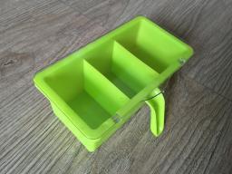 Изготовление пресс-форм для пластиковой коробки приправы с крышкой и ручкой