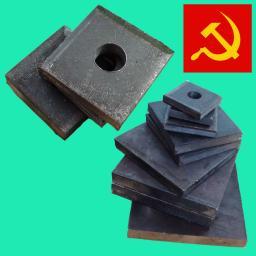 Анкерные плиты размером от м16 до м90 ГОСТ 24379.1-80.