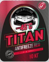 Антифриз TITAN зеленый, красный до -45С.