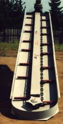 Наклонный транспортер ТСН-3,0Б, длина 6м