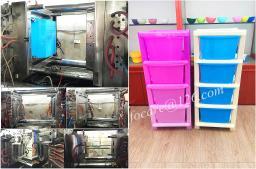 Производство изготовление пресс-форм для пластикового комода с ящиками