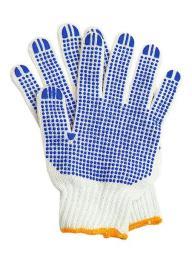Перчатки рабочие хб 5 нитей 10 класс с ПВХ ТОЧКА