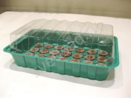 Минипарник с торфяными таблетками 44 мм,28 ячеек,