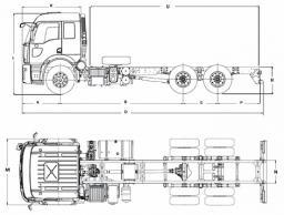 Самосвал Ford 2532D LR