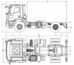 Самосвал Ford 1832D DC