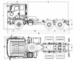 Самосвал Ford 2536D LR